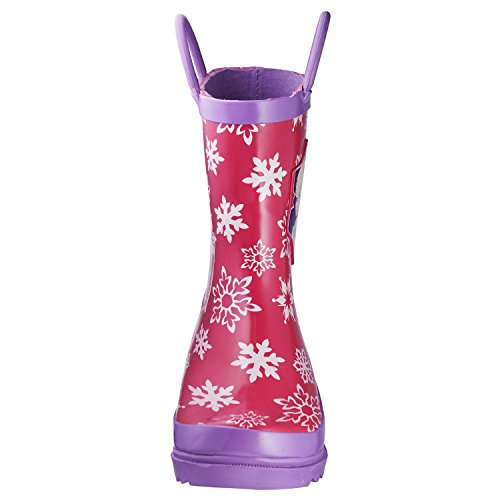 Disney Frozen Girls Anna and Elsa Pink Rain Boots - Size 12 M US Little Kid by Disney (Image #2)
