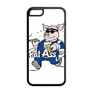 5C Phone Cases, FatAss Pig Hard TPU Rubber Cover Case for iPhone 5C