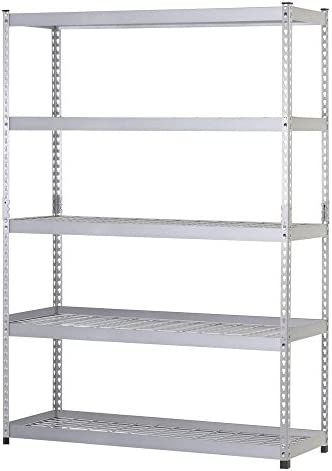 48 in. W x 24 in. D x 78 in. H Steel 5 Shelf