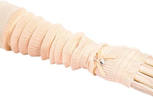 [ロイヤルパイン] UVカット 日焼け対策 手袋 指なし 薄手 アームカバー ロンググローブ シャーリング リボン ビジュー 付き 5色