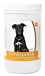Healthy Breeds 3088-mutt-001 Omega 3 & 6 Soft Chews for Mutt, 120 Count