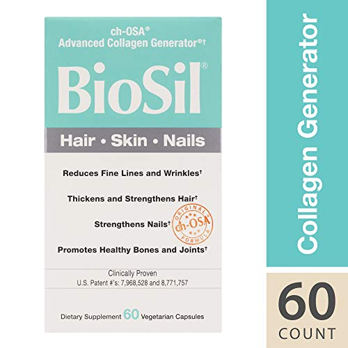 BioSil by Natural Factors, Hair, Skin, Nails, Supports Collagen Production to Help Reduce Wrinkles, Vegetarian, 60 Capsules (60 Servings) (FFP)
