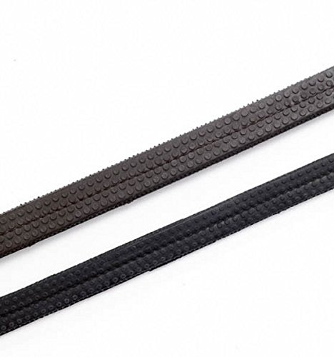 (Brown, Pony 1.3cm ) - Rubber Grip Reins in Black or Brown   B007KLY3UK