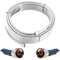 Wilson Electronics 10-Foot WILSON400 Ultra Low Loss Coax Cable with N Male Connectors - White