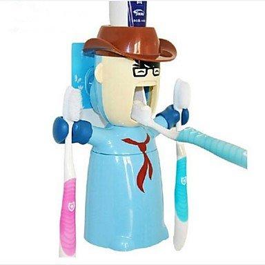 ZYT amor guerrero apretón multifunción cepillo de dientes pasta de dientes titular dispensador de plástico Juego 3 pcs color al azar: Amazon.es: Hogar