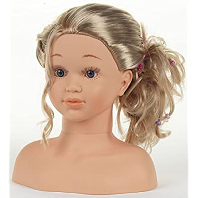 Theo Klein 5240 - Princess Coralie Hairstyling Head, Make-Up Head: Toys & Games