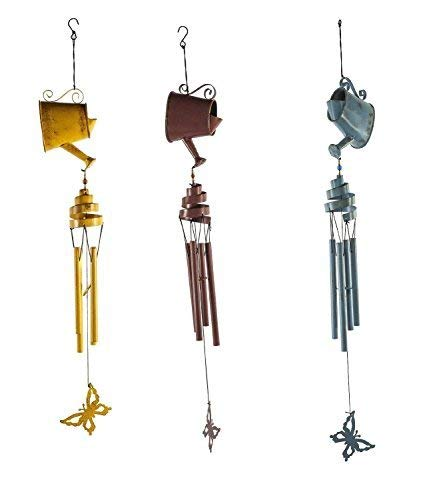 - Watering Can Windchimes (Set of 3; Equally Assorted)