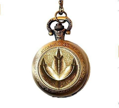 (Handmade Rangers Green Ranger Pocket Watch Necklace)