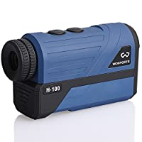 Wosports Upgraded Battery Cover, Golf Rangefinder, Laser Distance Finder with Slope, Flag-Lock with Vibration Distance/Speed/Angle Measurement