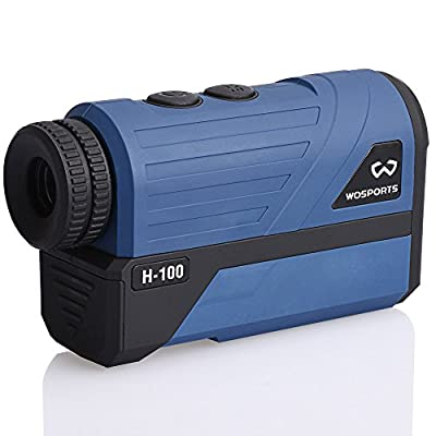 Wosports Golf Rangefinder, 650 Yards Laser Distance Finder with Slope, Flag-Lock with Vibration Distance/Speed/Angle Measurement, Upgraded Battery Cover by Wosports