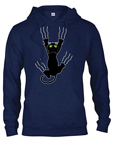 Nice Adult Unisex Heavyweight Fleece Hoodie Halloween Scary Cat Print T Shirt supplier