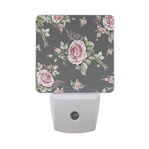 - JOYPRINT Led Night Light Floral Flower Rose Pattern, Auto Senor Dusk to Dawn Night Light Plug in for Kids Baby Girls Boys Adults Room