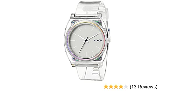 Amazon.com: Nixon Time Teller P Translucent Dial Translucent Polyurethane Ladies Watch A1191779: Nixon: Watches