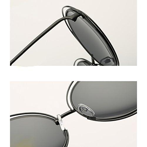 b148201aab Gafas de sol gafas de sol de metal de rejilla redonda (tamaño grande/gafas