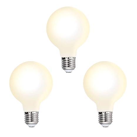 Lamparas Bombillas Globos de LED de Edison E27 G80 6W Luz Calida 3000K Iluminación Omnidireccional Reemplazo de Bombilla Incandescente 60W, Lot de 3 ...