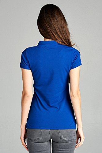 0a219a67 Emmalise Women Junior Short Sleeve Pique Polo Golf School Uniform Shirt - S -3XL