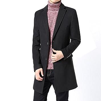 Men s Casual Hombres de la Moda de Abrigo de Lana Abrigo Abrigo de Lana