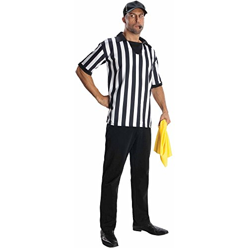 [Adult Mens Referee Costume-- Shirt, Hat, Flag and Whistle] (Mens Referee Costumes)