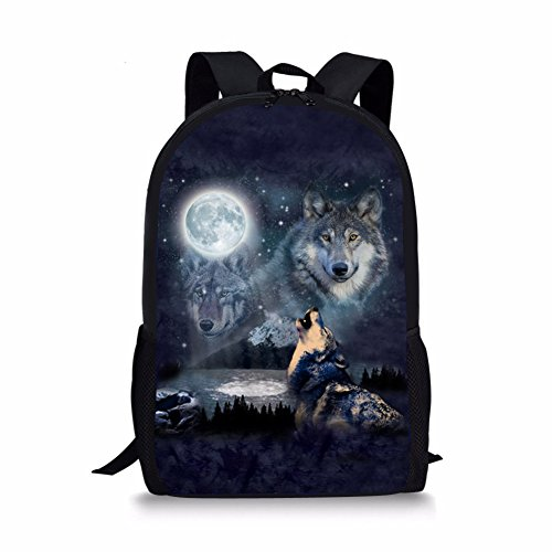 GOSTONG 3D Cute Animals Colorful Cowboy Kid Backpack Book bags For Girls Boys