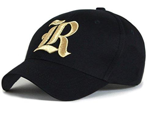 4sold - Gorra de béisbol - para hombre black R gold