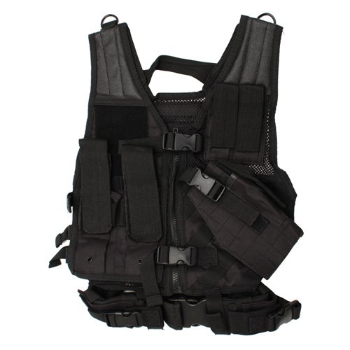 Nc Star Children's Vest, Black, Small