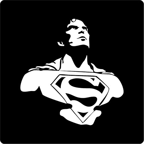 All About Families Superman DC Comics Silhouette Decal Sticker Die Cut Decal Sticker for Tuck car Windows Laptop Phone case Bumper yeti Cup Mugs Helmet car Door Wall Decoration ~ 6
