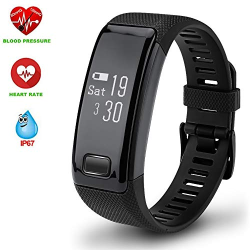 Hangang C9 Smart Watch Sports Bracelet Fitness Tracker Activity Tracker Bluetooth Band Smart Wristband Heart RateBlood Presure Bracelet Detection Pedometer Tracker for Android and IOS(blue)