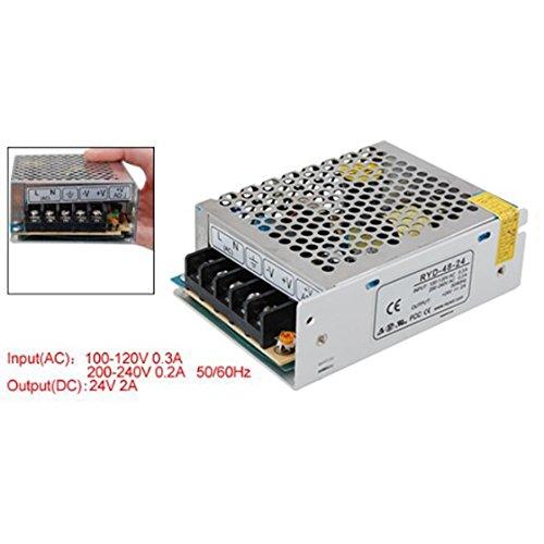 XZANTE AC 110V 220V a DC 24V 2A 48W voltaggio trasformatore interruttore Alimentazione Elettrica per Led Strip