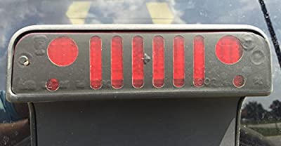 Jeep Grille / Grill Third Brake Light Cover for Jeep Wrangler TJ 97-06