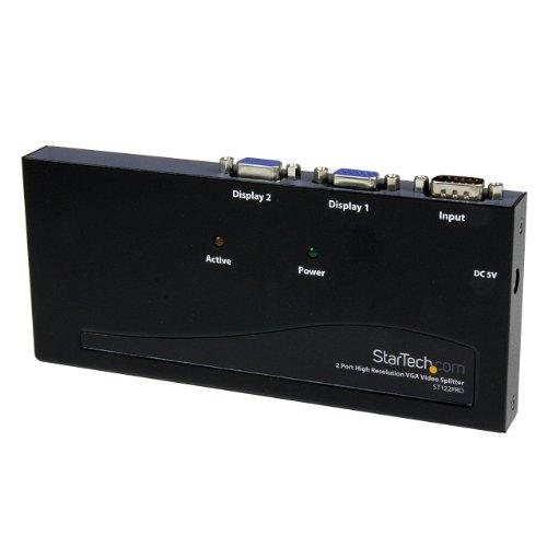 StarTech.com ST122PRO 2 Port High Resolution VGA Video Splitter – 350 MHz, Best Gadgets