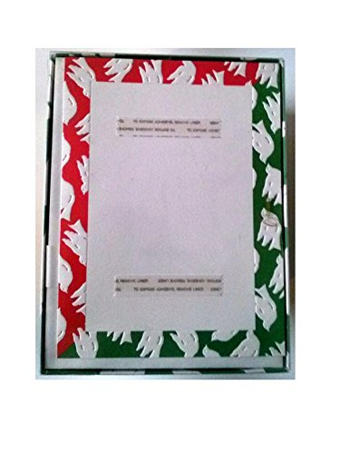 Crane's KD9202V Doves Holiday Card 15 Photo Enclosures with Adhesive Strip 15 Printed Envelopes Made in USA (Virgin Vintage Product)