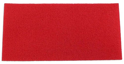 Square Scrub Red Driver Pad (Spacer/ Light Cleanng/ Buffing), 28 Inch - 2 Pack