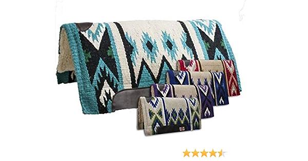 "Showman 36/"" x 34/"" Cutter Saddle Pad w// Navajo Design /& Memory Felt Bottom"