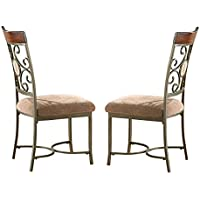 Steve Silver Company Thompson Side Chairs (Set of 2), 19W x 23D x 40H