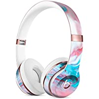 Marbleized Teal and Pink V2 DesignSkinz Full-Body Skin Kit for the Beats by Dre Solo 3 Wireless Headphones / Ultra-Thin / Matte Finished / Protective Skin Wrap