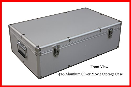 New Aluminum 840 Discs Movie Storage case For DVD Blu-Ray with Sleeves Silver ()