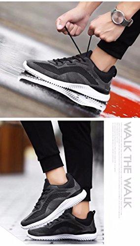 Anbover Uomo Casual Moda Sneakers Traspirante Scarpe Sportive Atletiche Grigie