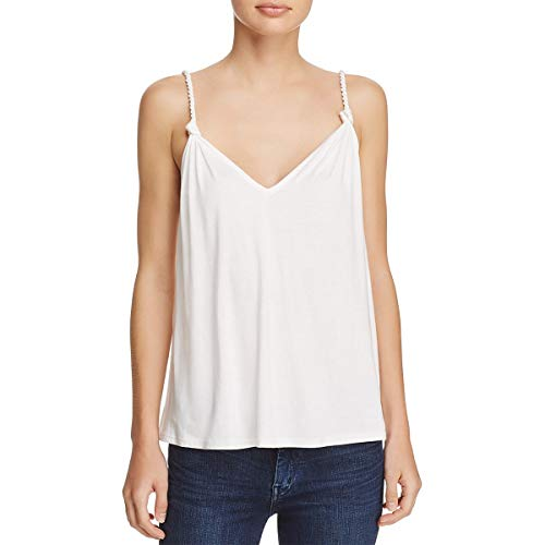 (Ella Moss Womens Bella V-Neck Braided Strap Camisole Top White XS)