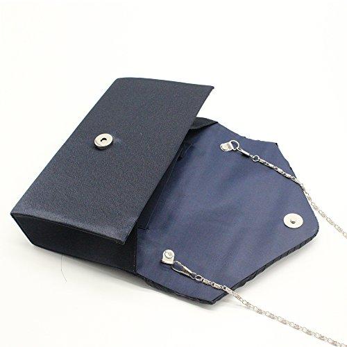 Nlyefa Frizioni eleganti del raso delle donne, borsa, sacchetto di spalla per il banchetto del partito di cerimonia nuziale
