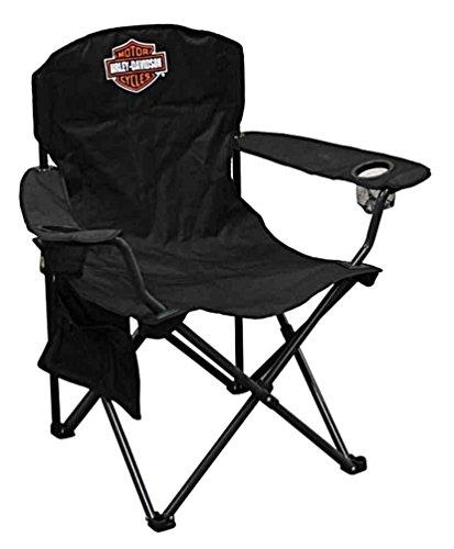 Harley-Davidson Compact Bar & Shield XL Chair w/Drink Holder/Carry Bag CH30264