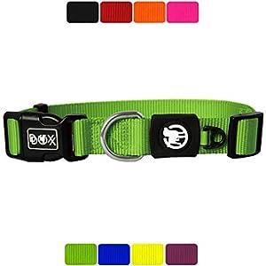 DDOXX Collar Perro Nylon, Ajustable | Muchos Colores & Tamaños | para Perros Pequeño, Mediano y Grande | Collares…