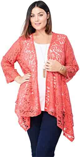 e60493ca624 Jessica London Women s Plus Size Lace Topper