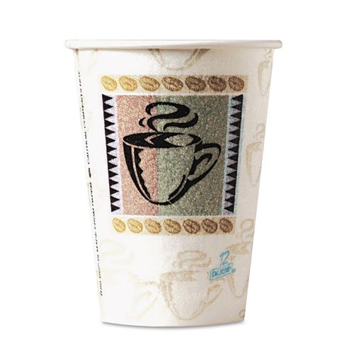 Dixie Perfectouch Cup Coffee (Dixie 5338CDPK PerfecTouch Hot Cups, Paper, 8oz, Coffee Dreams Design, 50/Pack)