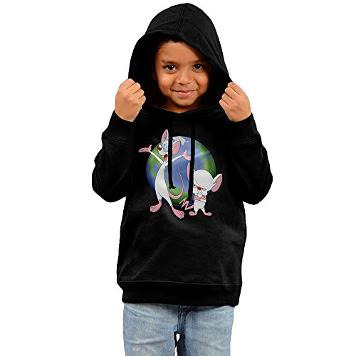 [Pinky And The Brain Youth Pullover Hooded Sweatshirt 2 Toddler] (Freakazoid Costume)