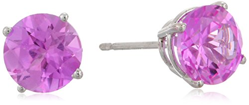 14k White Gold 6mm Round Created Pink Sa - New Pink Sapphire Shopping Results