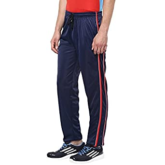 0fb7171f AMERICAN CREW Men's Trackpant Navy Blue with Red Stripes & White Piping -L  (AL077