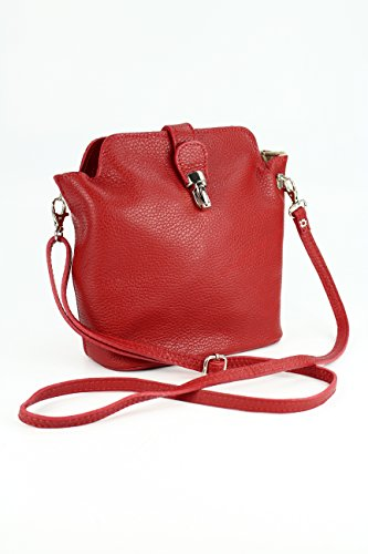 Belli - Bolso cruzados para mujer Negro negro 18x20x8 Rojo