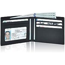 Clifton Heritage Men's Leather RFID Blocking Ultra-Thin Bifold Wallet