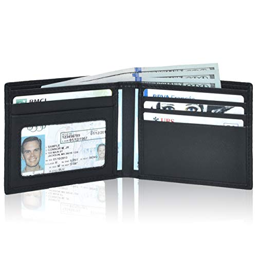 Leather wallets men RFID Bifold product image