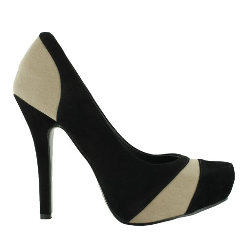 Footwear Sensation - Sandalias de vestir para mujer Multicolor - Black White
